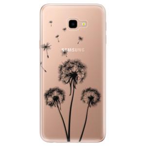 Silikonové odolné pouzdro iSaprio Three Dandelions black na mobil Samsung Galaxy J4 Plus