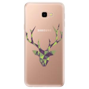 Silikonové odolné pouzdro iSaprio Deer Green na mobil Samsung Galaxy J4 Plus