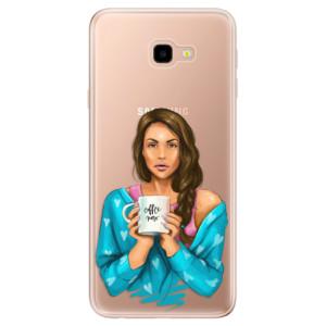 Silikonové odolné pouzdro iSaprio Coffee Now Brunette na mobil Samsung Galaxy J4 Plus
