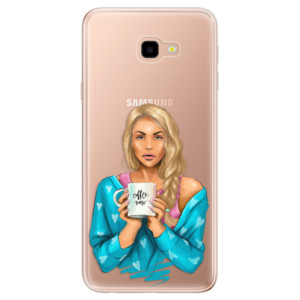 Silikonové odolné pouzdro iSaprio Coffee Now Blond na mobil Samsung Galaxy J4 Plus