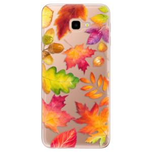 Silikonové odolné pouzdro iSaprio Autumn Leaves 01 na mobil Samsung Galaxy J4 Plus