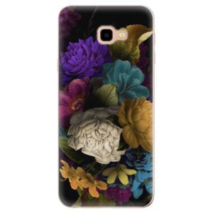 Silikonové odolné pouzdro iSaprio Dark Flowers na mobil Samsung Galaxy J4 Plus