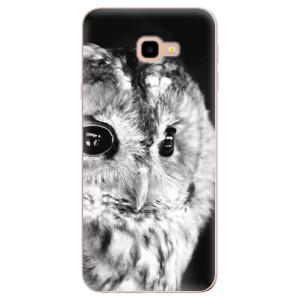 Silikonové odolné pouzdro iSaprio BW Owl na mobil Samsung Galaxy J4 Plus