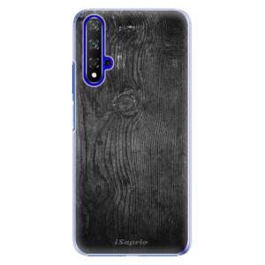 Plastové pouzdro iSaprio Black Wood 13 na mobil Honor 20