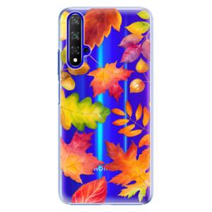 Plastové pouzdro iSaprio Autumn Leaves 01 na mobil Honor 20