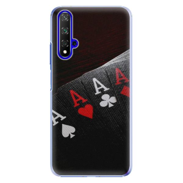 Plastové pouzdro iSaprio Poker na mobil Honor 20 (Plastový obal, kryt, pouzdro iSaprio Poker na mobil Huawei Honor 20)
