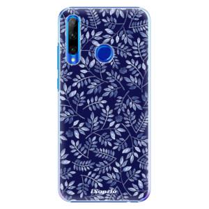 Plastové pouzdro iSaprio Blue Leaves 05 na mobil Honor 20 Lite