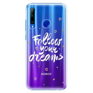 Plastové pouzdro iSaprio Follow Your Dreams white na mobil Honor 20 Lite