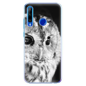 Plastové pouzdro iSaprio BW Owl na mobil Honor 20 Lite