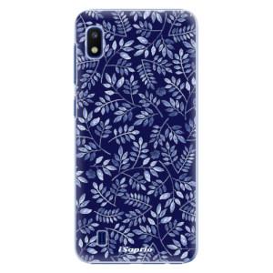 Plastové pouzdro iSaprio Blue Leaves 05 na mobil Samsung Galaxy A10