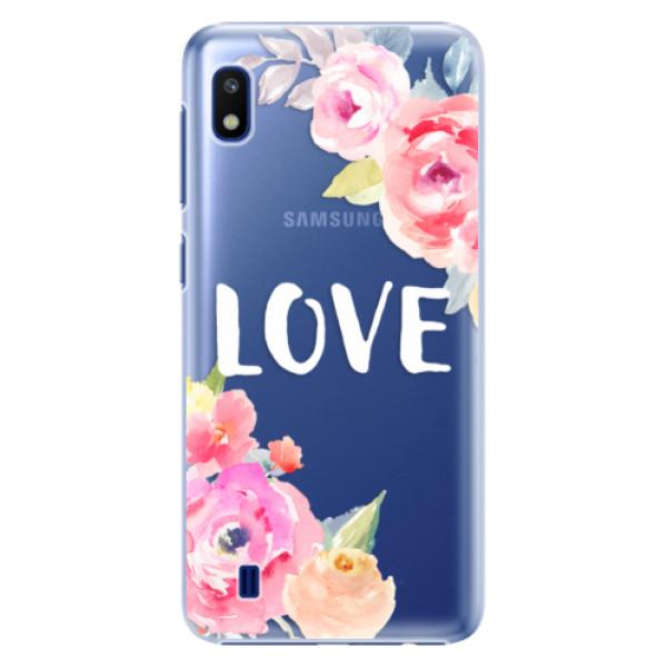 Plastové pouzdro iSaprio Love na mobil Samsung Galaxy A10 (Plastový obal, kryt, pouzdro iSaprio Love na mobil Samsung Galaxy A10)