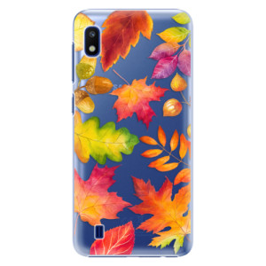 Plastové pouzdro iSaprio Autumn Leaves 01 na mobil Samsung Galaxy A10