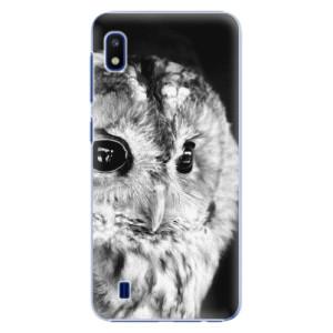 Plastové pouzdro iSaprio BW Owl na mobil Samsung Galaxy A10