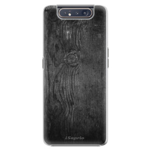 Plastové pouzdro iSaprio Black Wood 13 na mobil Samsung Galaxy A80