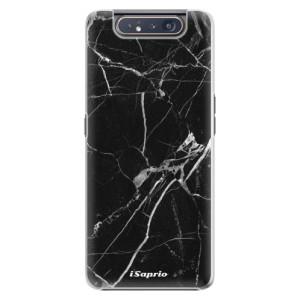 Plastové pouzdro iSaprio Black Marble 18 na mobil Samsung Galaxy A80