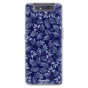 Plastové pouzdro iSaprio Blue Leaves 05 na mobil Samsung Galaxy A80