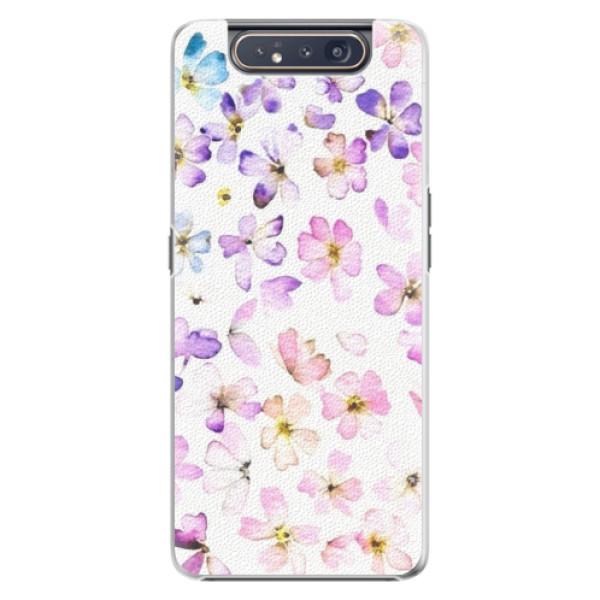 Plastové pouzdro iSaprio Wildflowers na mobil Samsung Galaxy A80 (Plastový obal, kryt, pouzdro iSaprio Wildflowers na mobil Samsung Galaxy A80)