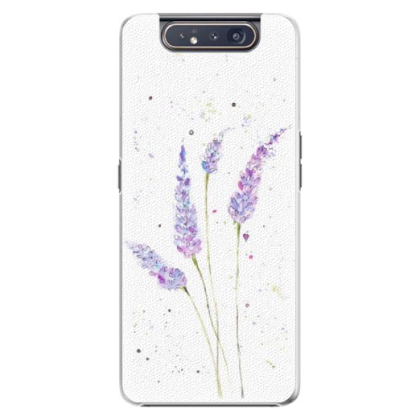 Plastové pouzdro iSaprio Lavender na mobil Samsung Galaxy A80 (Plastový obal, kryt, pouzdro iSaprio Lavender na mobil Samsung Galaxy A80)