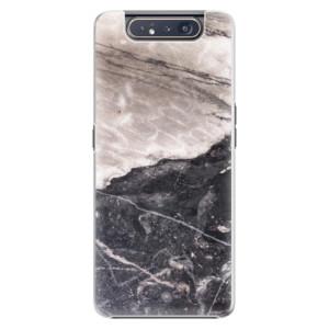 Plastové pouzdro iSaprio BW Marble na mobil Samsung Galaxy A80
