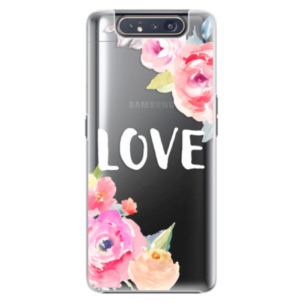Plastové pouzdro iSaprio Love na mobil Samsung Galaxy A80 (Plastový obal, kryt, pouzdro iSaprio Love na mobil Samsung Galaxy A80)
