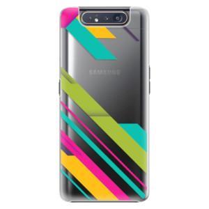 Plastové pouzdro iSaprio Color Stripes 03 na mobil Samsung Galaxy A80
