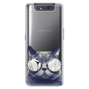 Plastové pouzdro iSaprio Crazy Cat 01 na mobil Samsung Galaxy A80