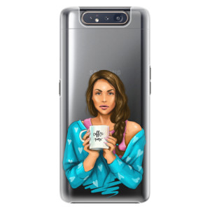Plastové pouzdro iSaprio Coffee Now Brunette na mobil Samsung Galaxy A80