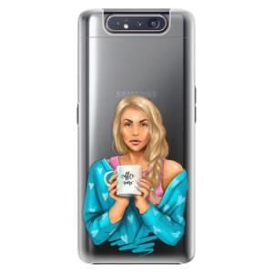 Plastové pouzdro iSaprio Coffee Now Blond na mobil Samsung Galaxy A80