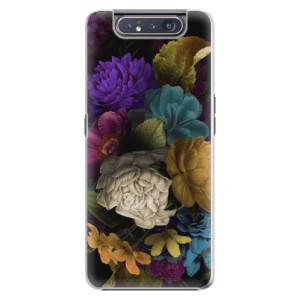 Plastové pouzdro iSaprio Dark Flowers na mobil Samsung Galaxy A80