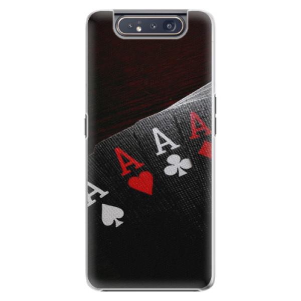 Plastové pouzdro iSaprio Poker na mobil Samsung Galaxy A80 (Plastový obal, kryt, pouzdro iSaprio Poker na mobil Samsung Galaxy A80)
