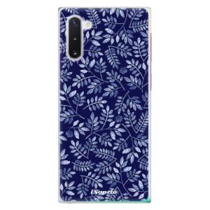 Plastové pouzdro iSaprio Blue Leaves 05 na mobil Samsung Galaxy Note 10