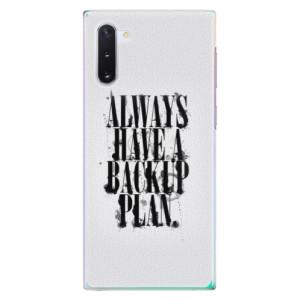 Plastové pouzdro iSaprio Backup Plan na mobil Samsung Galaxy Note 10