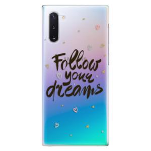 Plastové pouzdro iSaprio Follow Your Dreams black na mobil Samsung Galaxy Note 10