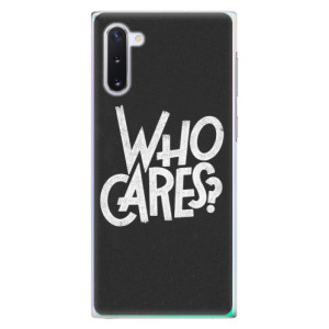 Plastové pouzdro iSaprio Who Cares na mobil Samsung Galaxy Note 10