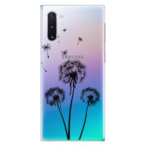 Plastové pouzdro iSaprio Three Dandelions black na mobil Samsung Galaxy Note 10