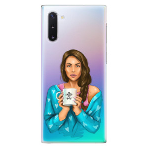 Plastové pouzdro iSaprio Coffee Now Brunette na mobil Samsung Galaxy Note 10