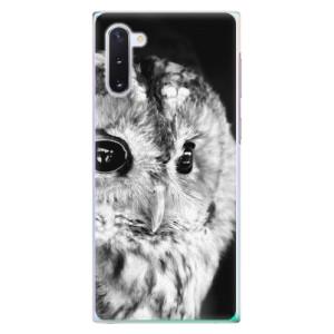 Plastové pouzdro iSaprio BW Owl na mobil Samsung Galaxy Note 10