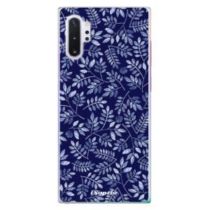 Plastové pouzdro iSaprio Blue Leaves 05 na mobil Samsung Galaxy Note 10 Plus