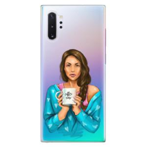 Plastové pouzdro iSaprio Coffee Now Brunette na mobil Samsung Galaxy Note 10 Plus