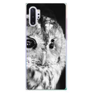 Plastové pouzdro iSaprio BW Owl na mobil Samsung Galaxy Note 10 Plus