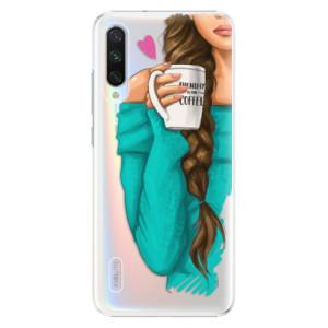 Plastové pouzdro iSaprio My Coffee and Brunette Girl na mobil Xiaomi Mi A3