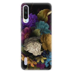 Plastové pouzdro iSaprio Dark Flowers na mobil Xiaomi Mi A3