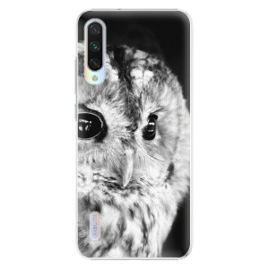 Plastové pouzdro iSaprio BW Owl na mobil Xiaomi Mi A3