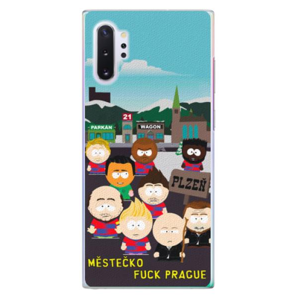 Plastový kryt iSaprio - Městečko Fuck Prague pro mobil Samsung Galaxy Note 10 Plus