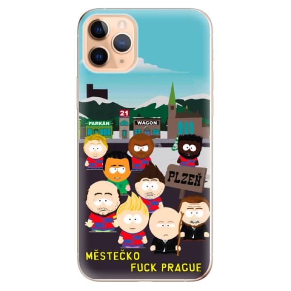 Silikonový kryt iSaprio - Městečko Fuck Prague pro mobil Apple iPhone 11 Pro Max