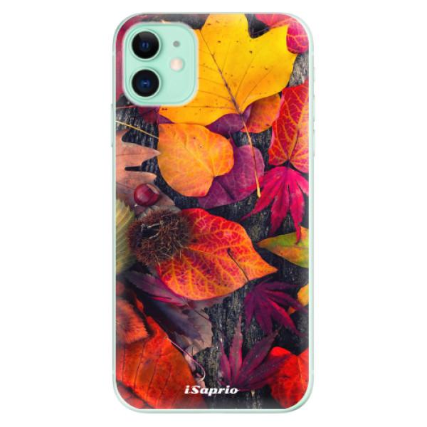 Silikonové odolné pouzdro iSaprio - Autumn Leaves 03 na mobil Apple iPhone 11