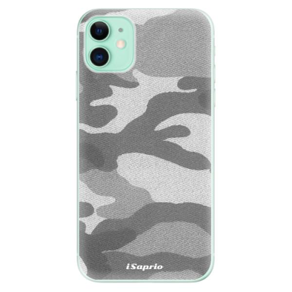 Silikonové odolné pouzdro iSaprio - Gray Camuflage 02 na mobil Apple iPhone 11