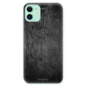 Silikonové odolné pouzdro iSaprio - black Wood 13 na mobil Apple iPhone 11