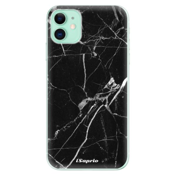 Silikonové odolné pouzdro iSaprio - black Marble 18 na mobil Apple iPhone 11
