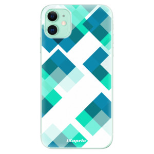 Silikonové odolné pouzdro iSaprio - Abstract Squares 11 na mobil Apple iPhone 11
